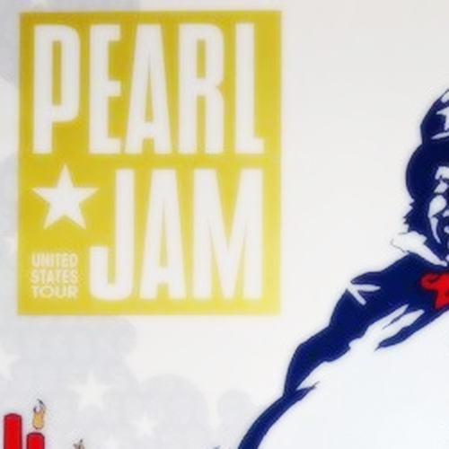 Pearl Jam Mansfield 2000 Poster