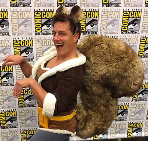Barrowman rocks the Squirrel tail.