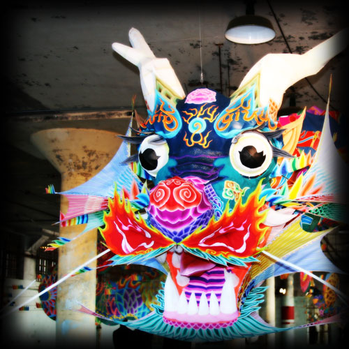 Ai Weiwei's dragon at Alcatraz