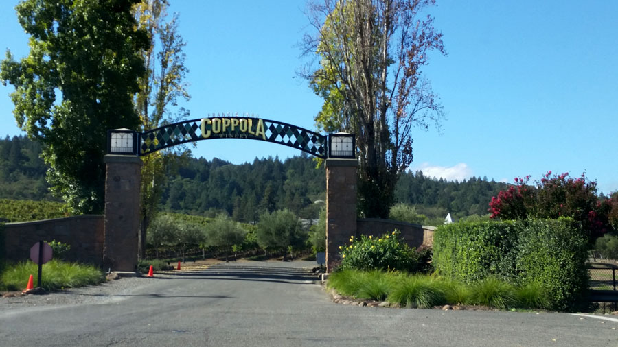 Entrance to Coppola Winery.