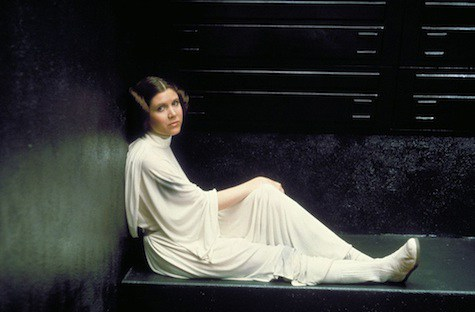 Princess Leia in her cell.