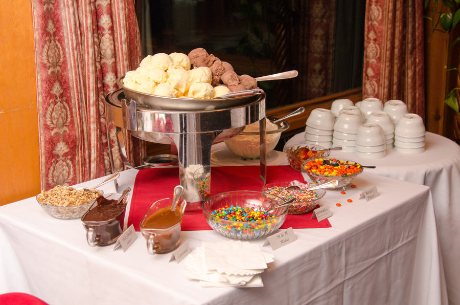 Ice Cream sundae bar instead of cake